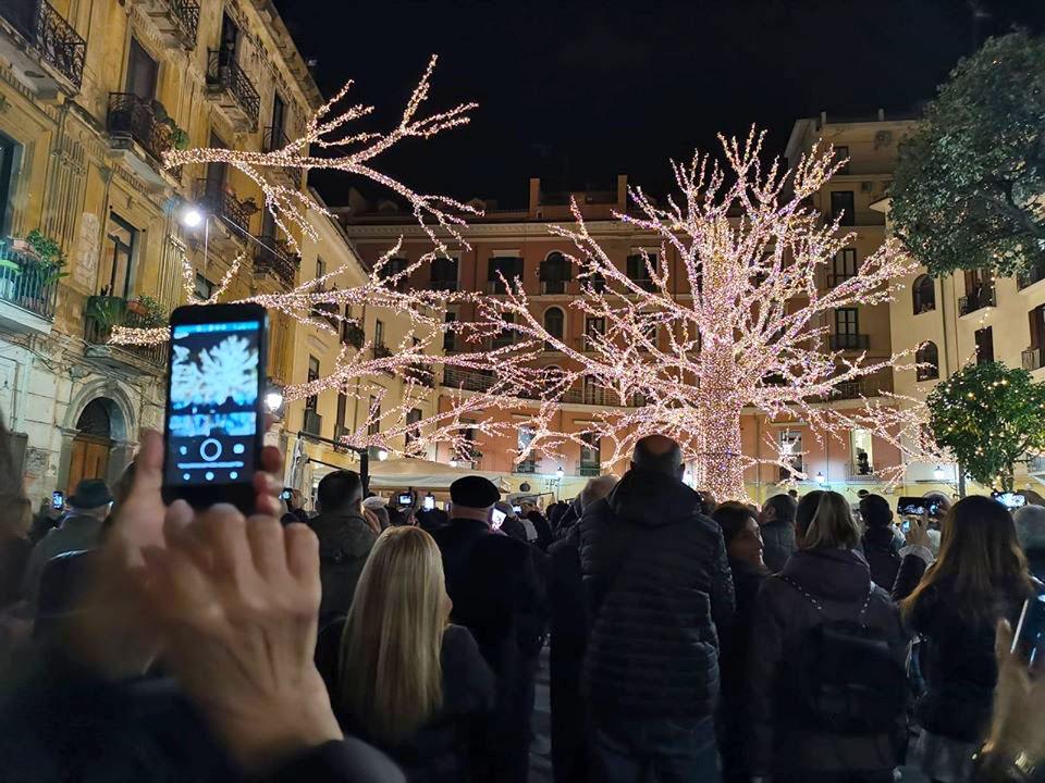 Inaugurazione Luminarie Salerno 2021